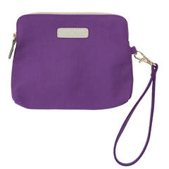Catchall Case - Purple with Tan and Gold Accents