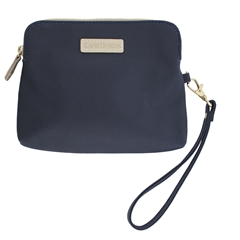 Catchall Case - Navy with Tan and Gold Accents