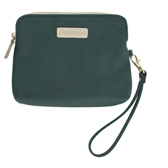 Catchall Case - Green with Tan and Gold Accents