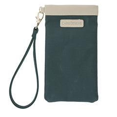 Eyeglass Carryall Case - Green with Tan and Gold Accents