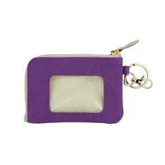 ID Case - Purple with Tan and Gold Accents