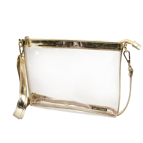 Large Crossbody - Clear PVC with Gold Accents