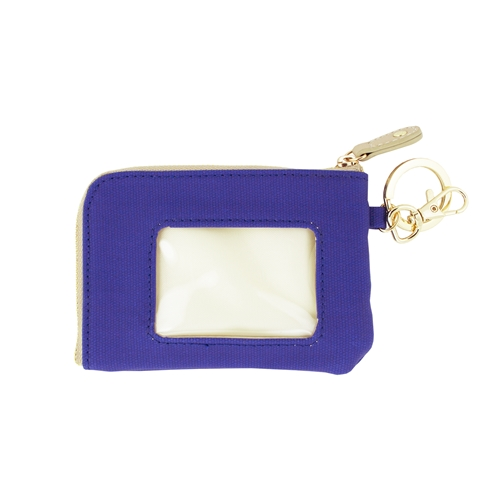 ID Case - Royal Blue with Tan and Gold Accents