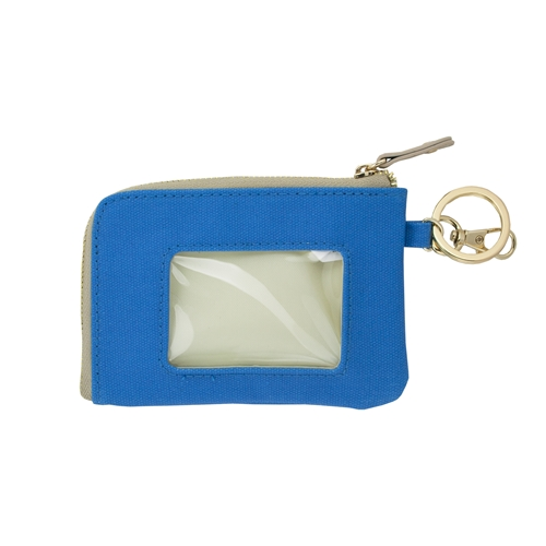 ID Case - Light Blue with Tan and Gold Accents