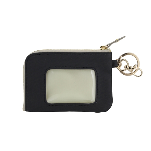 ID Case - Black with Tan and Gold Accents