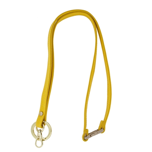 Mix & Match Lanyard - Yellow with Gold Accents