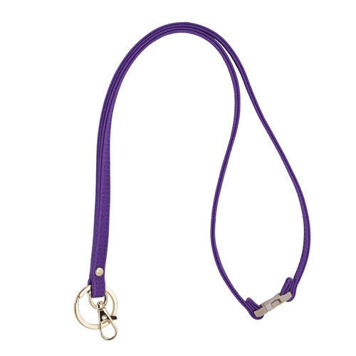 Mix & Match Lanyard - Purple with Gold Accents