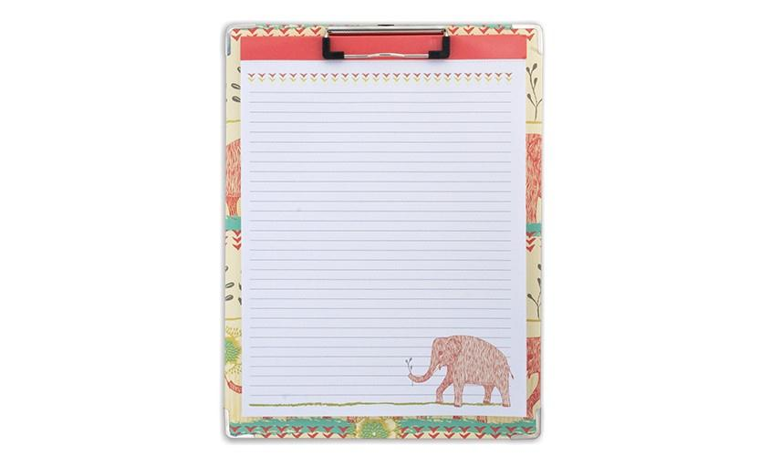 Clipboard and Paper Set - Elephant