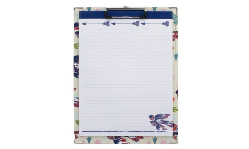 Clipboard and Paper Set - Dove