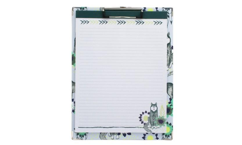 Clipboard and Paper Set - Wolf