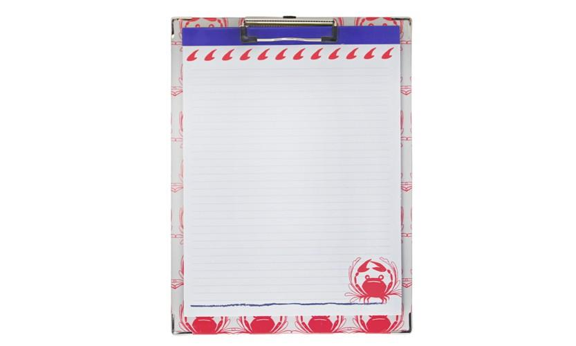 Clipboard and Paper Set - Crab