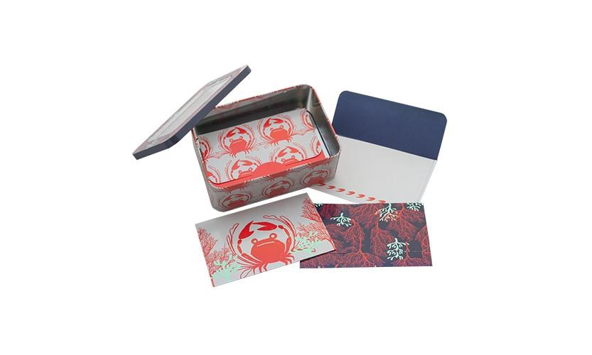 Note Card Tin Set - Crab