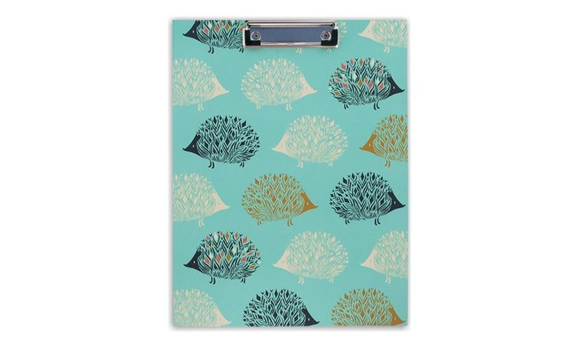 Padfolio with Clipboard - Hedgehog