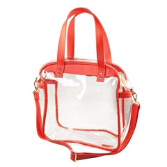 Carryall Tote - Clear PVC with Orange and Gold Accents