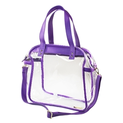 Carryall Tote - Clear PVC with Purple and Gold Accents