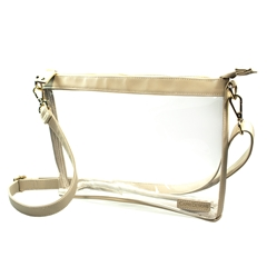 Large Crossbody - Clear PVC with Tan and Gold Accents