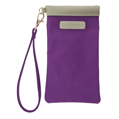 Eyeglass Carryall Case - Purple with Tan and Gold Accents