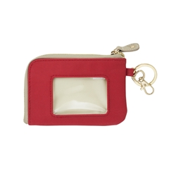 ID Case - Red with Tan and Gold Accents