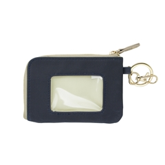 ID Case - Navy with Tan and Gold Accents