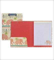 Padfolio with Clipboard - Elephant